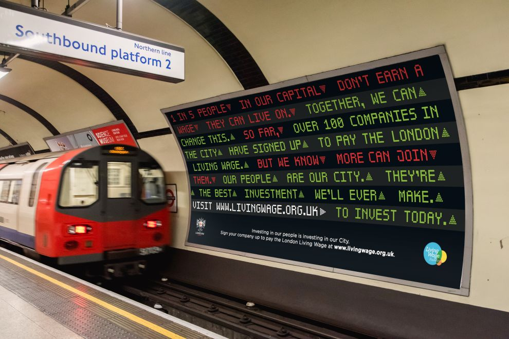 Campaign from Creature Urges City Firms to Pay London Living Wage