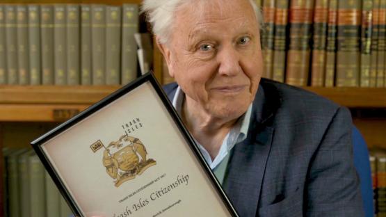 David Attenborough Becomes Latest Citizen of The Trash Isles