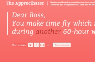 BSSP's Fun New Site Lets You Send Some 'Apprecihate' to Your Boss