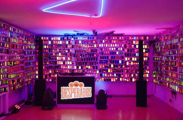 Desperados Uses 2,000 Phones to Create an Epic House Party Light Show