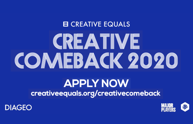 Diageo Sponsors Creative Equals Returner Scheme #CreativeComeback