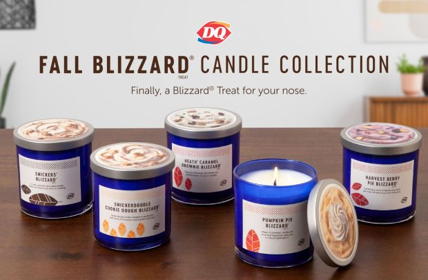 See in Autumn with These Soft Serve Scented Candles from Dairy Queen