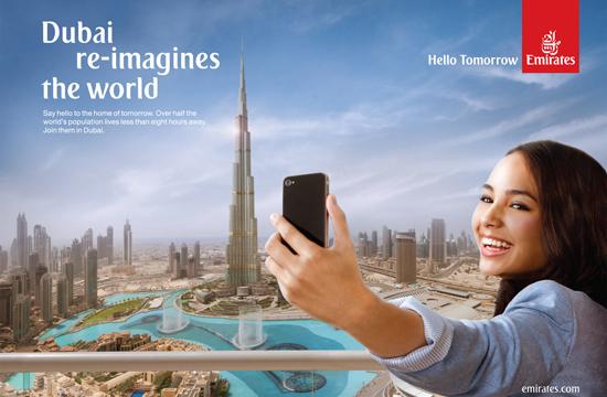 Adam Taylor shoots Hello Tomorrow for Emirates