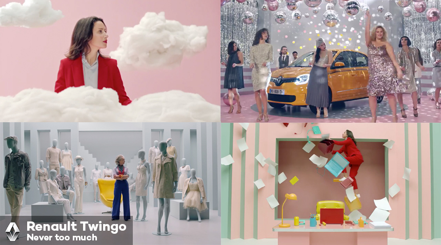 Renault Twingo shows its 'Never too Much' in Latest Campaign
