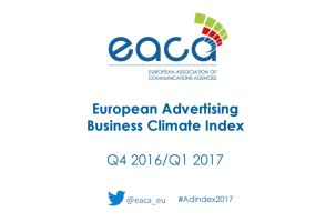 European Ad Industry Rides Confidence Wave to Start 2017