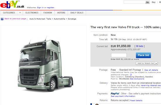 Volvo Launches New Truck Via Ebay