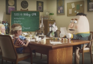 Nursery Rhyme Characters Come Together to Teach You How to Save a Baby