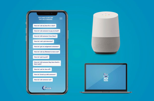 Extra Gum Launches 'Extra Pep Talks' Voice Assistant Tool