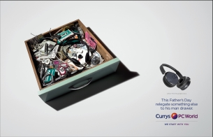 AMV BBDO Champions the 'Dad Drawer' In New Currys PC World Father's Day Ads