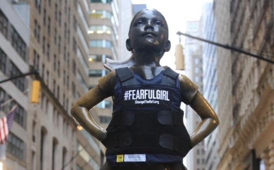 Fearless Girl Becomes Fearful Girl in Wake of America's School Shootings
