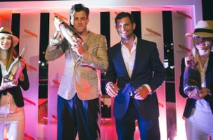 Mark Ronson Launches World's First Smart Champagne Bottle at the F1 Monaco GP