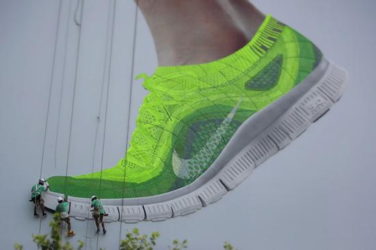 Nike Knits a Billboard