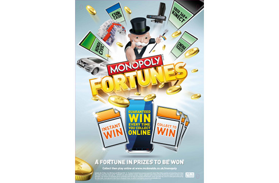 McDonald's Launches Latest Monopoly Giveaway