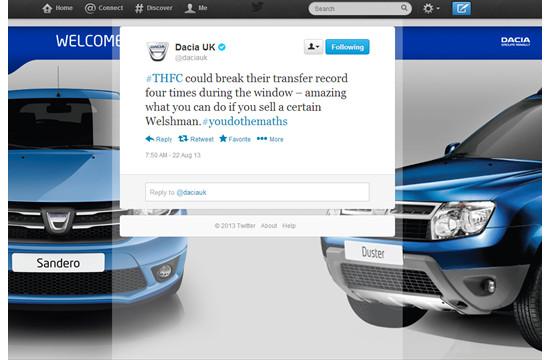 Publicis London Social Media Campaign for Dacia