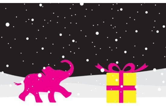 CP+B Gives Elephants a Merry Christmas