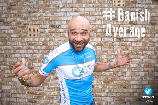 Goldie Hypes Up Cyclists' Mundane Commute for Tesco Mobile