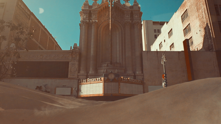 Director Neil Krug creates a desert in Downtown Los Angeles for Gonjasufi