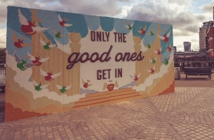 Carling Cider Gets Crafty with Giant Mural Made Entirely of Apple Stickers
