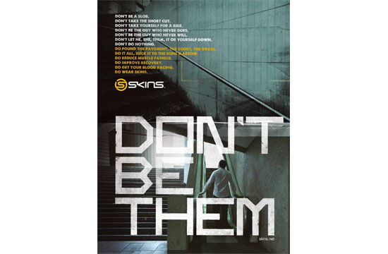 SKINS Challenges Men with 'Don't Be Them' Campaign
