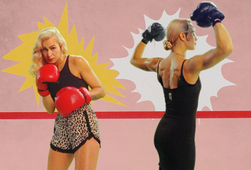 Model Alice Dellal Boxes Against Herself in Puma x Charlotte Olympia Campaign