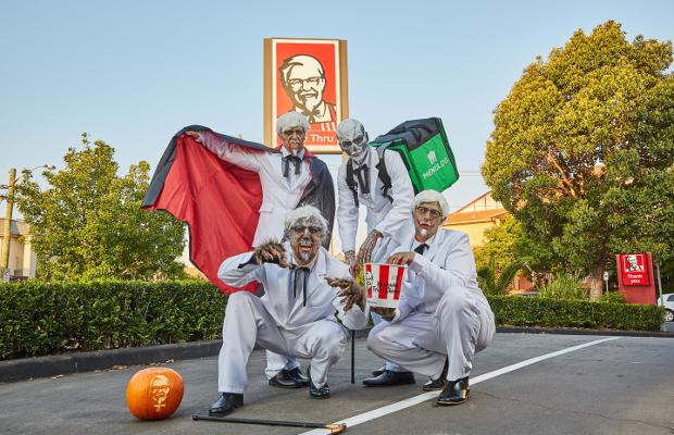 'Cursed Colonels' Deliver Spooky KFC Surprises to Menulog Customers