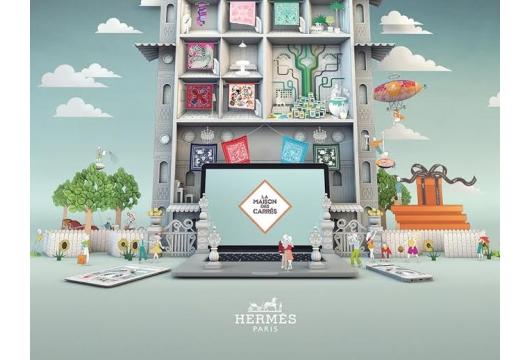 A Pop-up Adventure in AKQA's Online Campaign for Hermès Silk