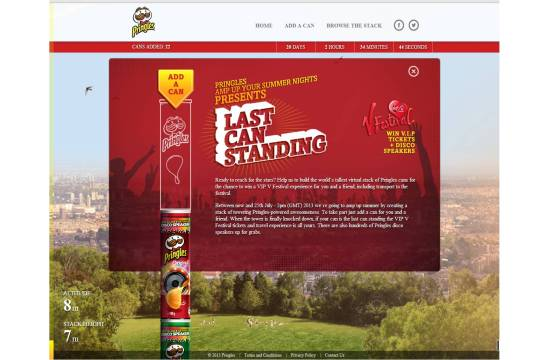 isobar Launches 'Last Can Standing' for Pringles