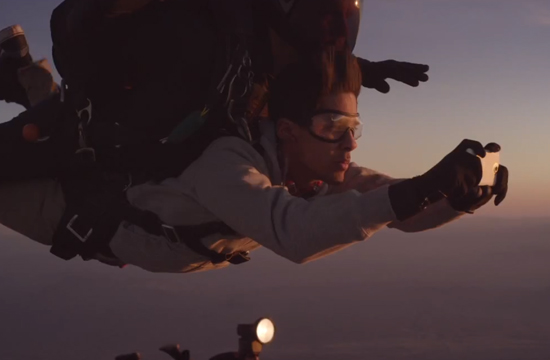 HTC Stages World First Free Fall Fashion Shoot On A Mobile Handset