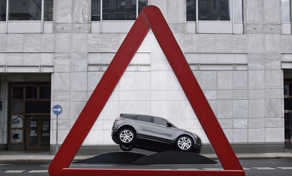 New Range Rover Evoque Recreates Iconic Road Signs in London