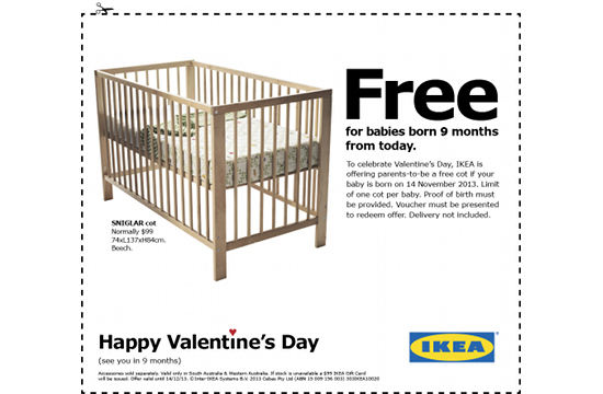 303Lowe's Cheeky Post-Valentine's Ad for IKEA