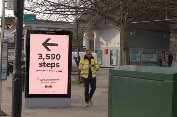 IKEA Promotes Sustainable Travel with Carbon Footprint Poster Campaign