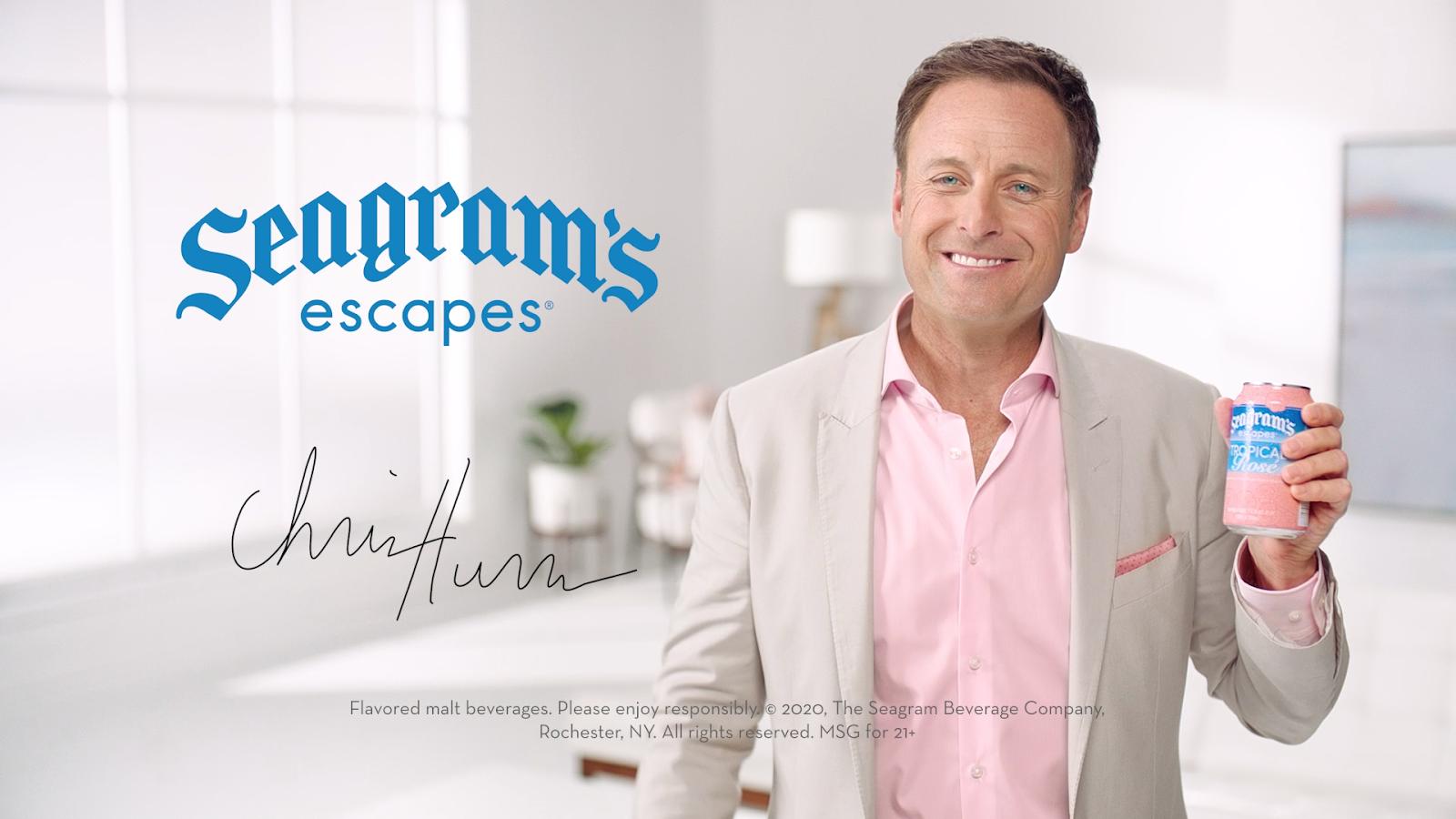 Chris Harrison 'Keeps It Colourful' for Seagram's Escapes Tropical Rosé