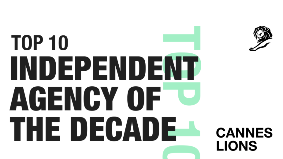 Serviceplan Ranks #5 in Cannes Lions Independent Agency of The Decade