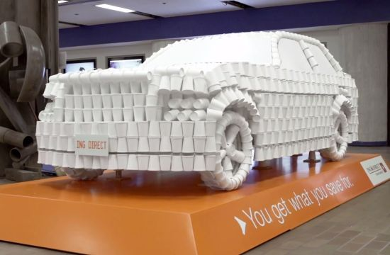 ING's Coffee Cup Cars