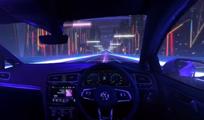360 VW Golf Campaign Transports You to An '80s-inspired Neon Future