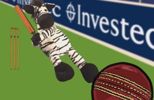 Zebbie Zebra Takes #Zelfies at the Ashes for New Investec Spot