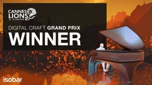 Isobar Wins Grand Prix in Digital Craft at Cannes Lions 2018