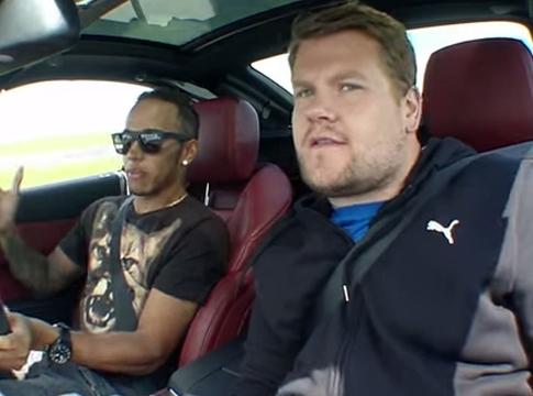 James Corden & Lewis Hamilton Conduct World's 'Fastest' Interview for Puma