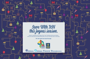 Lowe Malaysia Celebrates Festive Saving with Wrapping Paper Print Ad