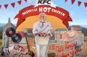 Colonel Sanders Wants to Bring Nashville to Your Lunch Break in New KFC Ads