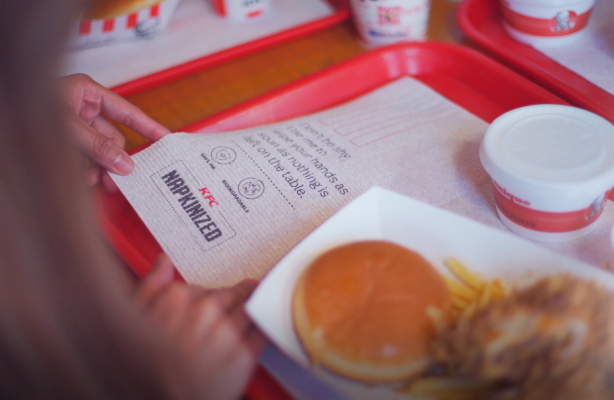 KFC Middle East Turns Its Menus, Placemats, Posters and Flyers into Tissues