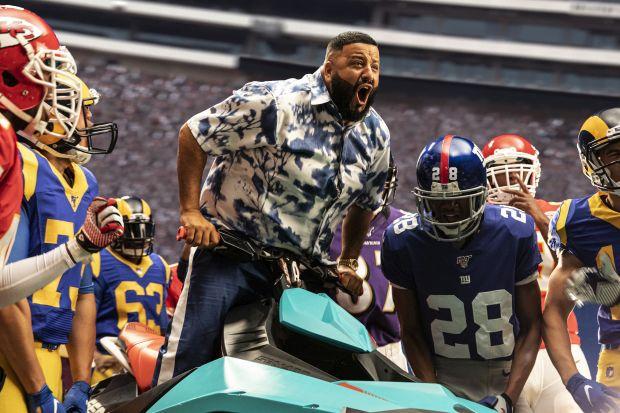 Patrick Mahomes Huddles with DJ Khaled in Madden NFL 20 Ad