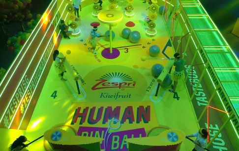 Zespri Kiwifruits Creates World's Largest Game of Human Pinball