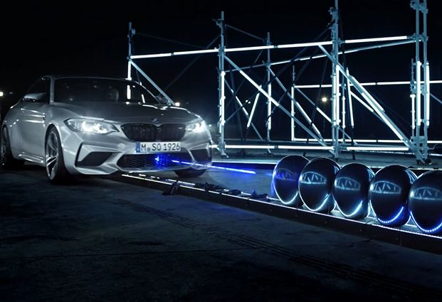 BMW Breaks a World Record in Laser-Powered Film from Carnage
