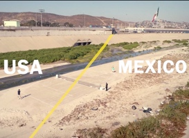 Björn Borg Plays a Game of Tennis Across The US and Mexico Border