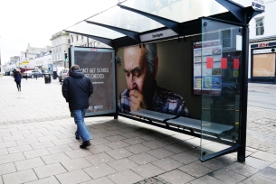 Leith's 'Coughing' Bus Shelter is Raising Awareness of Lung Cancer