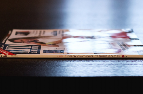 LG Launches 'The World's Slimmest Ad'