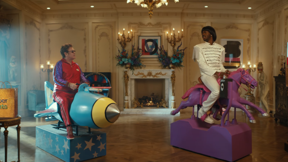 Lil Nas X and Sir Elton John Are Ordering in with Uber Eats in Latest Campaign