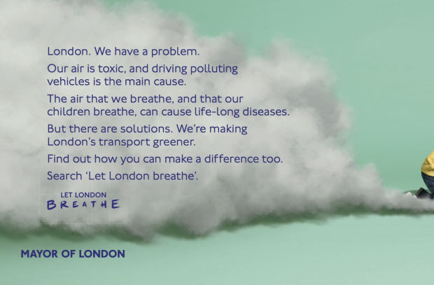 Transport for London Wants to 'Let London Breathe' with Pollution Print Ad