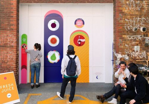 W+K London Fills Shoreditch Hole With Lucky Juice Giant Fruit Machine